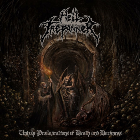 """Hell Trepanner """"Unholy Proclamations Of Death And Darkness"""" (7"""")"""