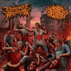"Fermented Masturbation/Pit Of Toxic Slime ""Misanthropic Urban Disease"" (CD)"
