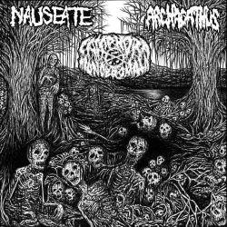 "Nauseate/Camphora Monobromata/Archagathus ""3 Way Split"" (CD)"