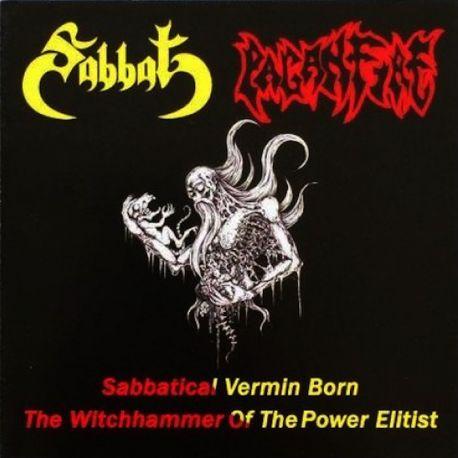 "Sabbat/Paganfire ""Sabbatical Vermin Born/The Witchhammer Of The Power Elitist"" (CD)"