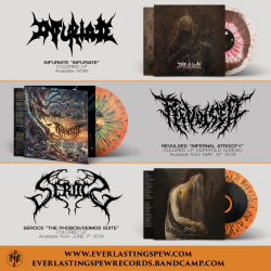 "Infuriate ""Infuriate"" (LP) + Serocs ""The Phobos/Deimos Suite"" (LP) + Revulsed ""Infernal Atrocity"" (LP)"