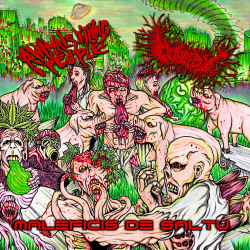 "Animals Killing People/Gorepot ""Maleficis de Saltu (Sorcery Of The Jungle)"" (CD)"