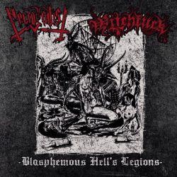 """Necrosadist/Witchfuck """"Blasphemous Hell's Legions"""" (7"""")"""