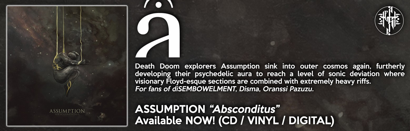 "ASSUMPTION ""Absconditus"" NOW AVAILABLE! CD / VINYL / DIGITAL / MERCH / BUNDLES"