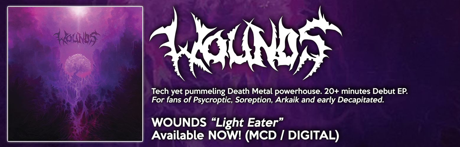 "WOUNDS ""Light Eater"" NOW AVAILABLE! MCD / DIGITAL"