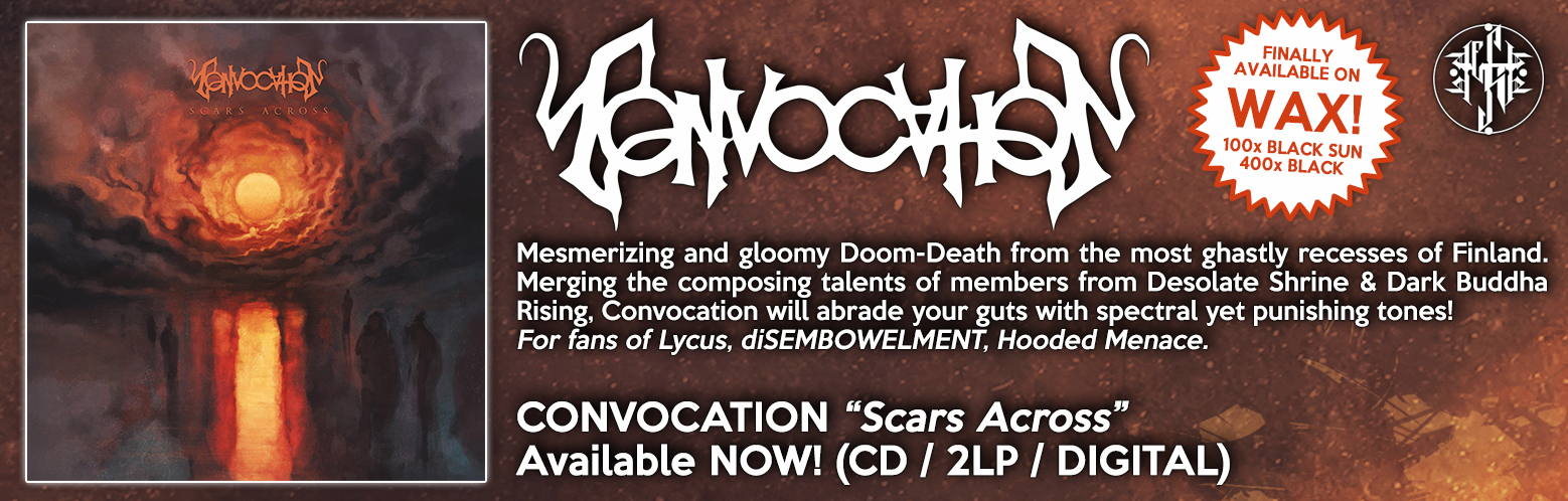 "CONVOCATION ""Scars Across"" NOW AVAILABLE! CD / DIGITAL / MERCH / BUNDLES"